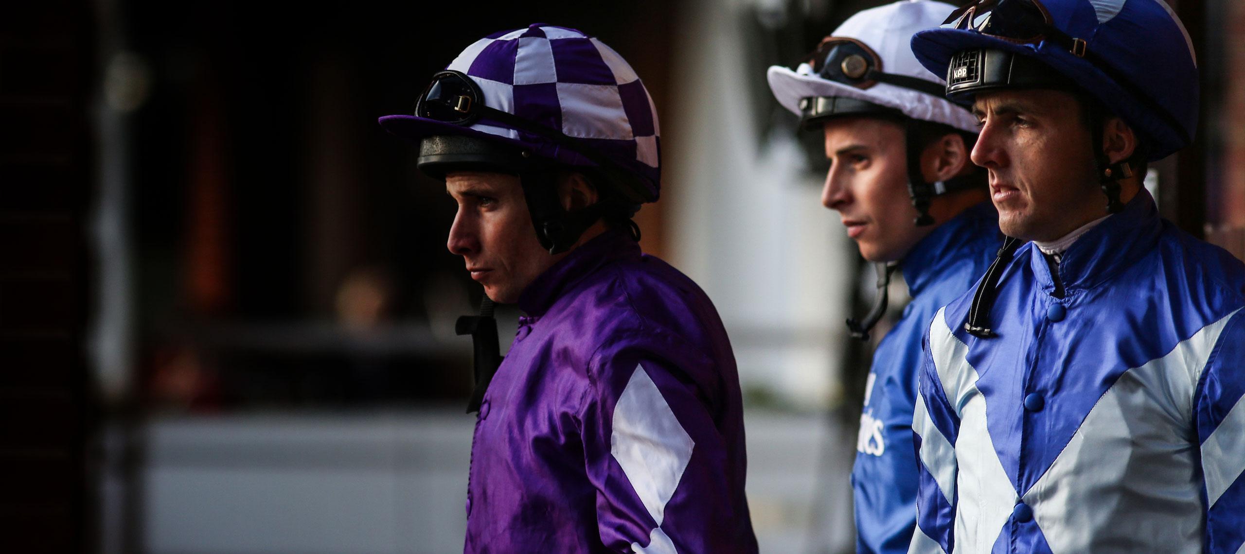Jockey's approaching